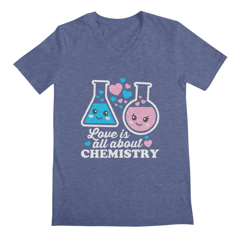 Love Is All About Chemistry Men's Regular V-Neck by Detour Shirt's Artist Shop