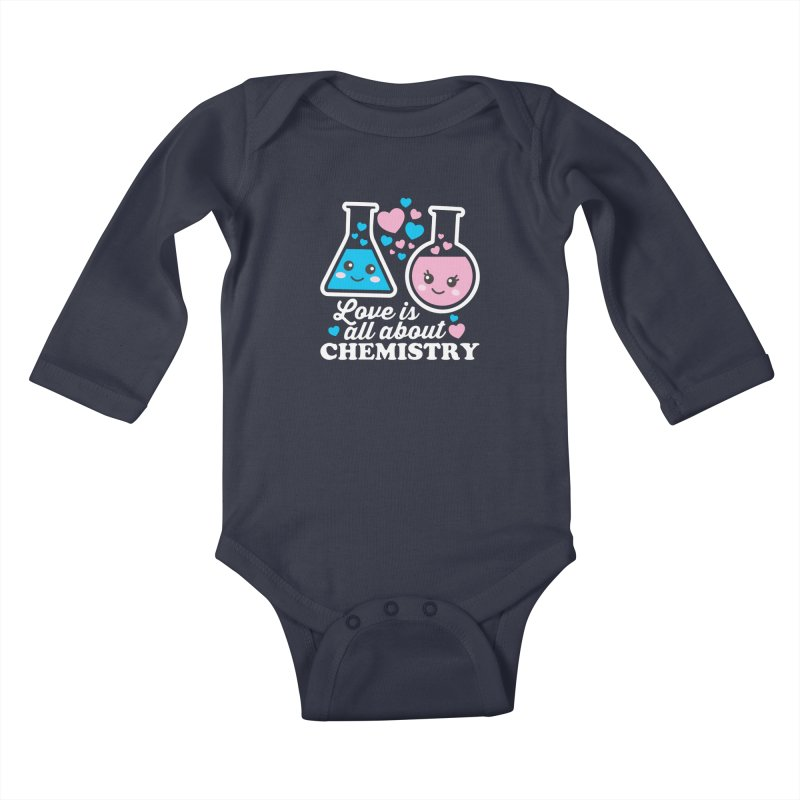 Love Is All About Chemistry Kids Baby Longsleeve Bodysuit by Detour Shirt's Artist Shop