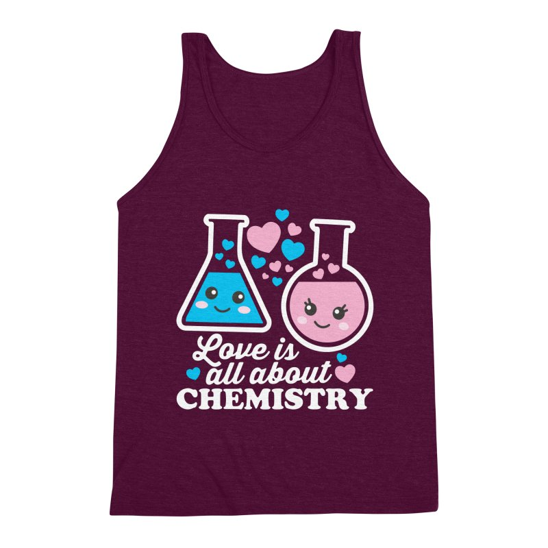 Love Is All About Chemistry Men's Triblend Tank by Detour Shirt's Artist Shop