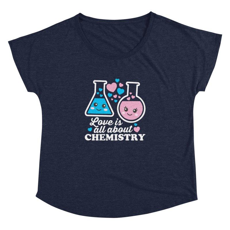 Love Is All About Chemistry Women's Dolman Scoop Neck by Detour Shirt's Artist Shop
