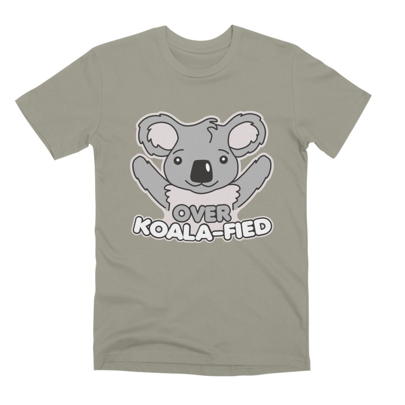 Over Koala-fied Men's Premium T-Shirt by Detour Shirt's Artist Shop
