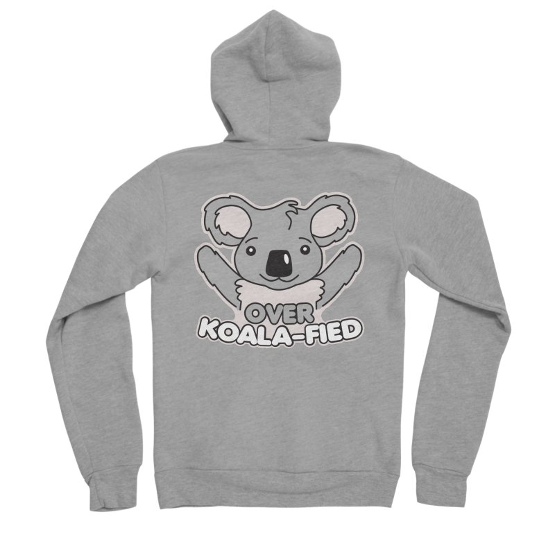 Over Koala-fied Men's Sponge Fleece Zip-Up Hoody by Detour Shirt's Artist Shop