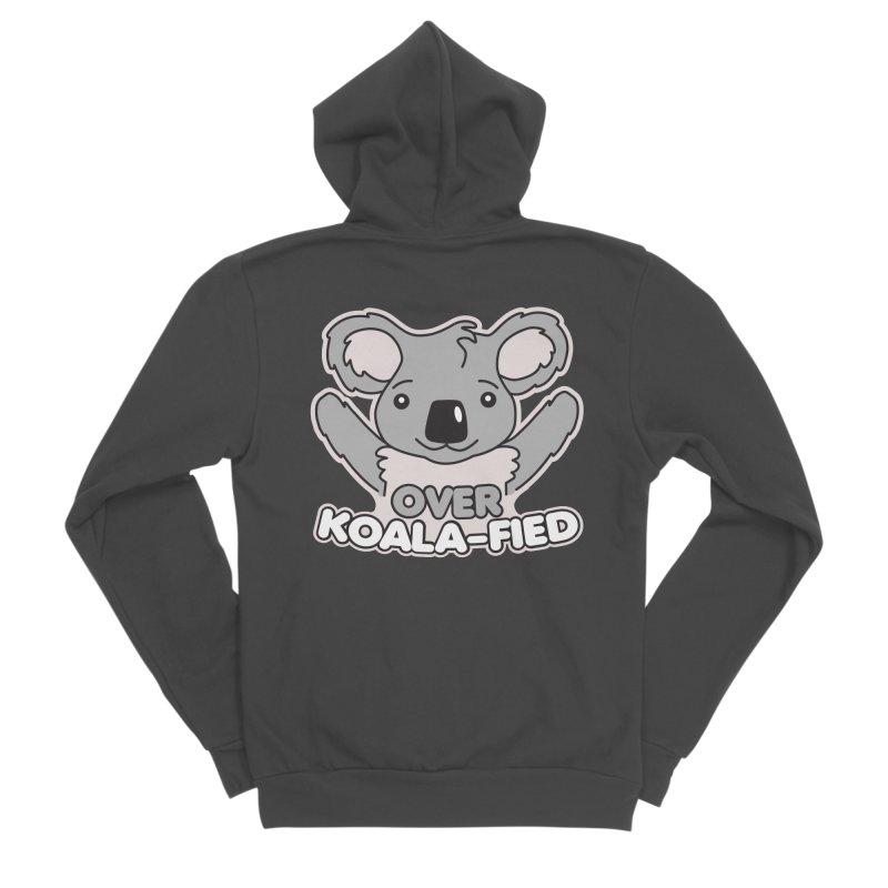 Over Koala-fied Women's Sponge Fleece Zip-Up Hoody by Detour Shirt's Artist Shop