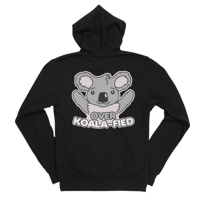 Over Koala-fied Men's Sponge Fleece Zip-Up Hoody by Detour Shirt's Artist Shop