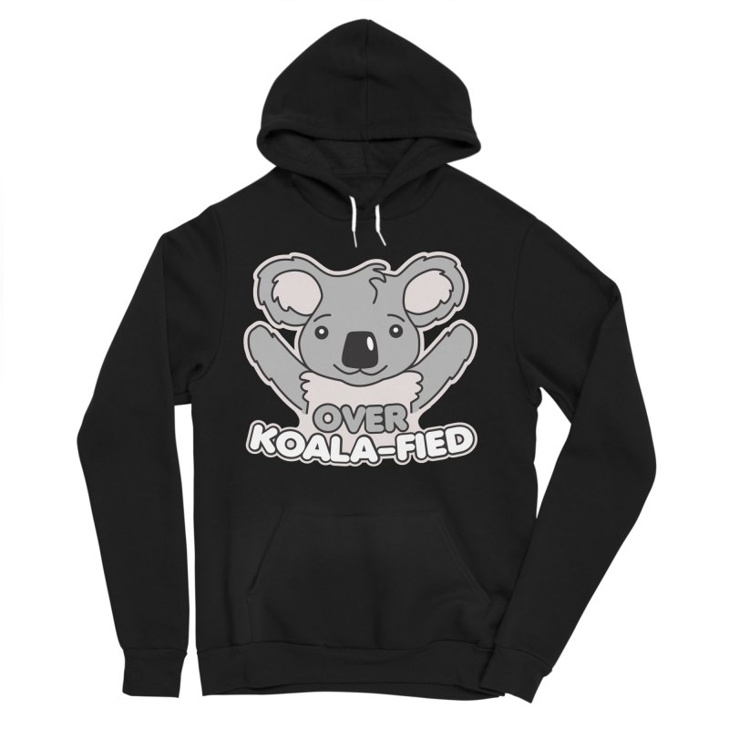 Over Koala-fied Men's Sponge Fleece Pullover Hoody by Detour Shirt's Artist Shop