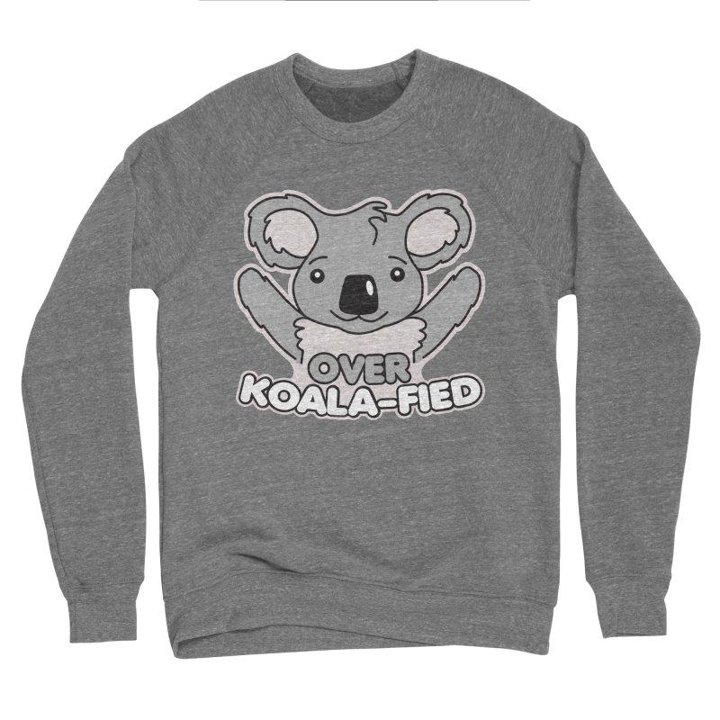 Over Koala-fied Men's Sponge Fleece Sweatshirt by Detour Shirt's Artist Shop