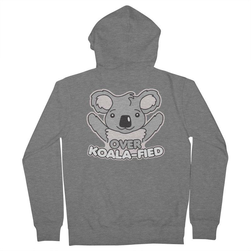 Over Koala-fied Women's French Terry Zip-Up Hoody by Detour Shirt's Artist Shop