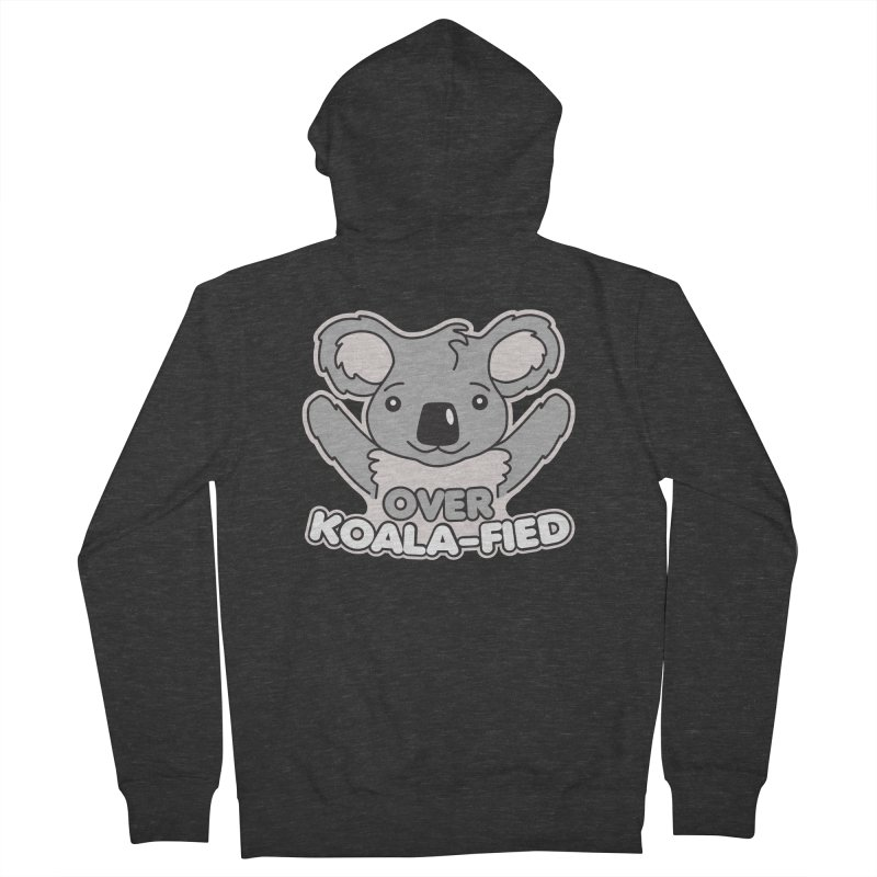 Over Koala-fied Men's French Terry Zip-Up Hoody by Detour Shirt's Artist Shop