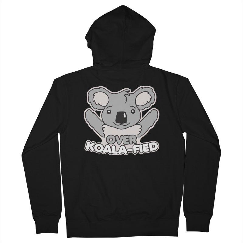 Over Koala-fied Men's French Terry Zip-Up Hoody by Detour Shirt's Artist Shop