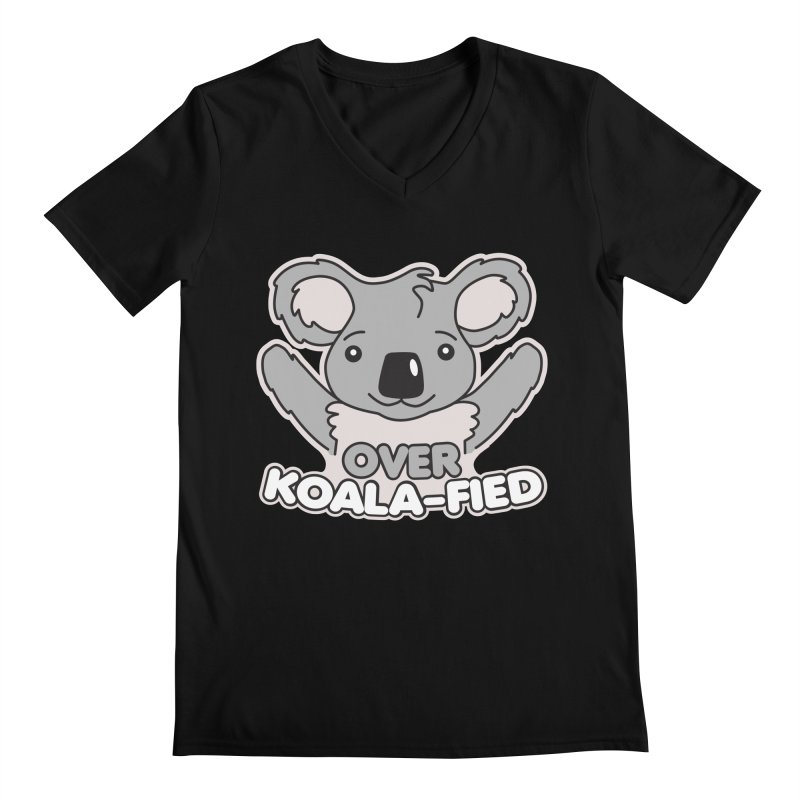 Over Koala-fied Men's Regular V-Neck by Detour Shirt's Artist Shop