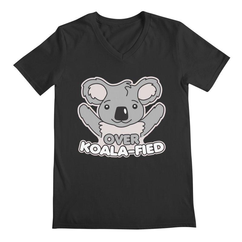 Over Koala-fied Men's Regular V-Neck by Detour Shirt's Artist Shop