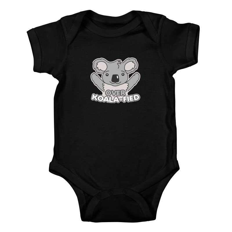 Over Koala-fied Kids Baby Bodysuit by Detour Shirt's Artist Shop