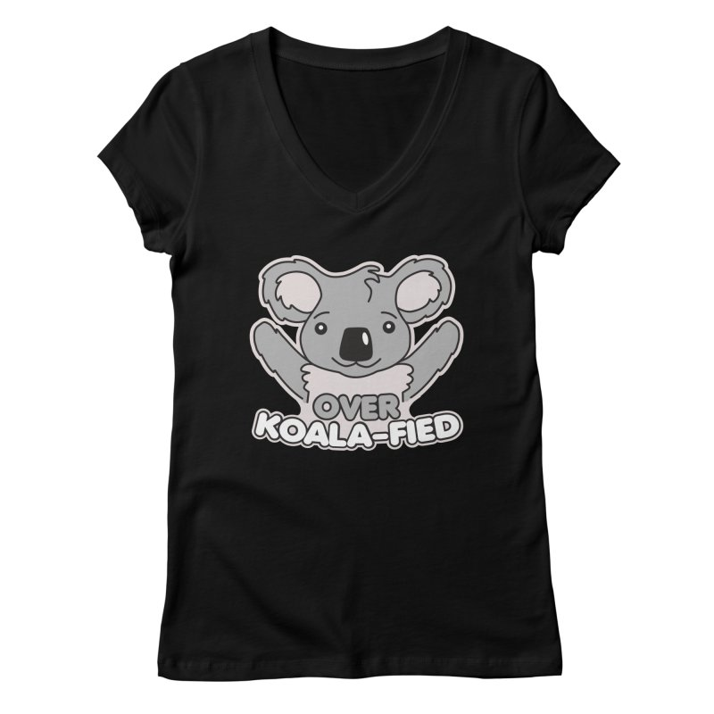 Over Koala-fied Women's Regular V-Neck by Detour Shirt's Artist Shop