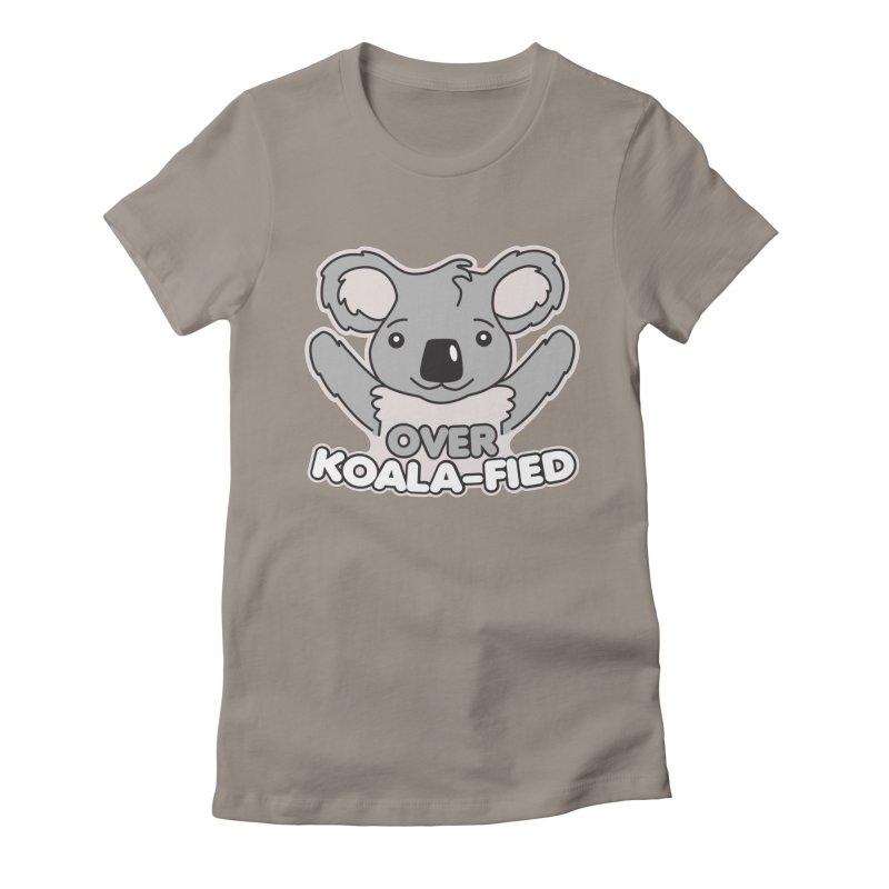 Over Koala-fied Women's T-Shirt by Detour Shirt's Artist Shop