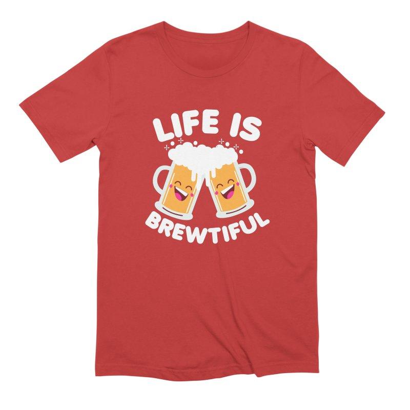 Life Is Brewtiful Men's Extra Soft T-Shirt by Detour Shirt's Artist Shop