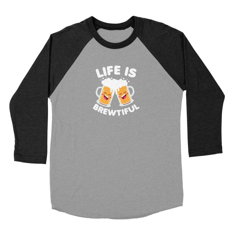 Life Is Brewtiful Men's Baseball Triblend Longsleeve T-Shirt by Detour Shirt's Artist Shop