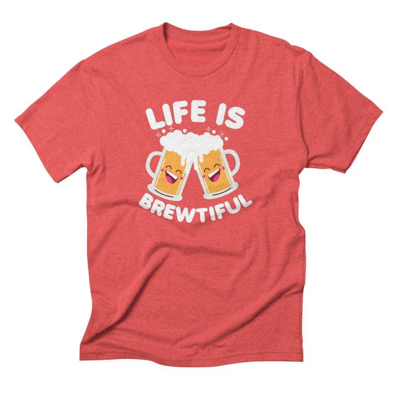 Life Is Brewtiful Men's Triblend T-Shirt by Detour Shirt's Artist Shop