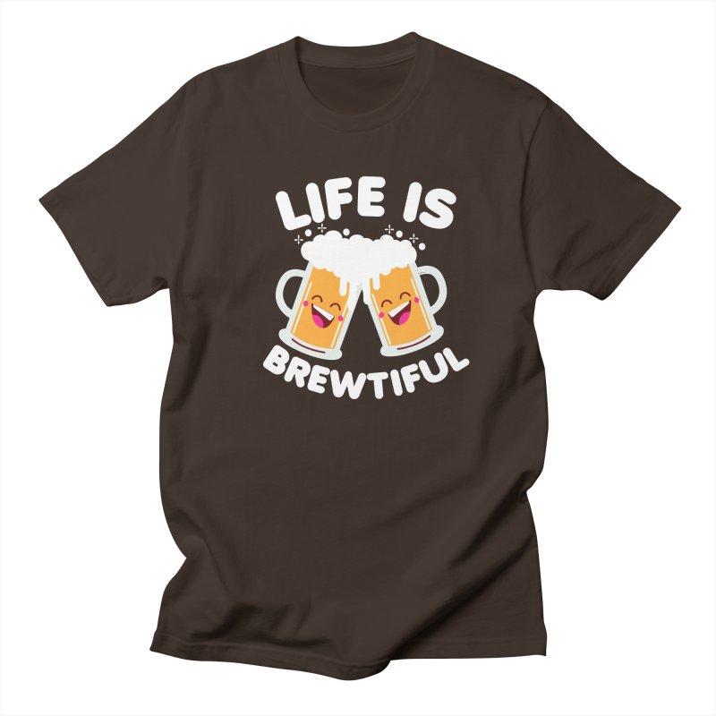 Life Is Brewtiful Men's Regular T-Shirt by Detour Shirt's Artist Shop