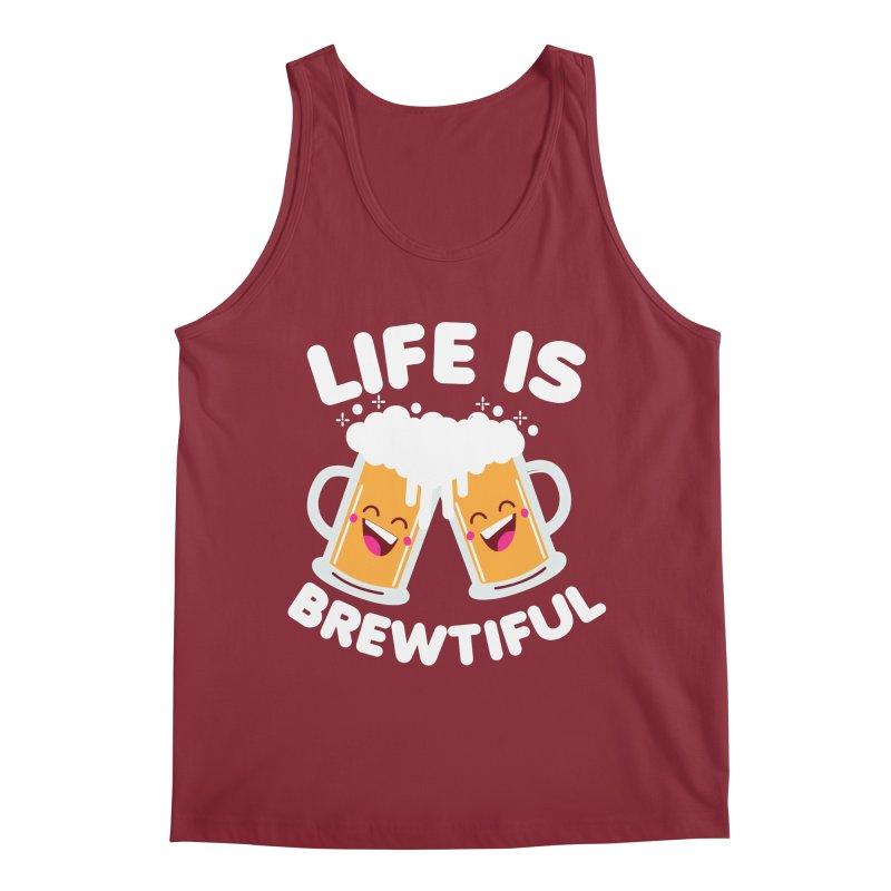 Life Is Brewtiful Men's Regular Tank by Detour Shirt's Artist Shop