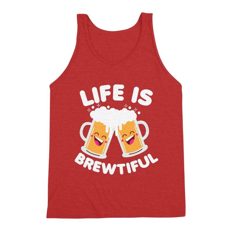 Life Is Brewtiful Men's Triblend Tank by Detour Shirt's Artist Shop