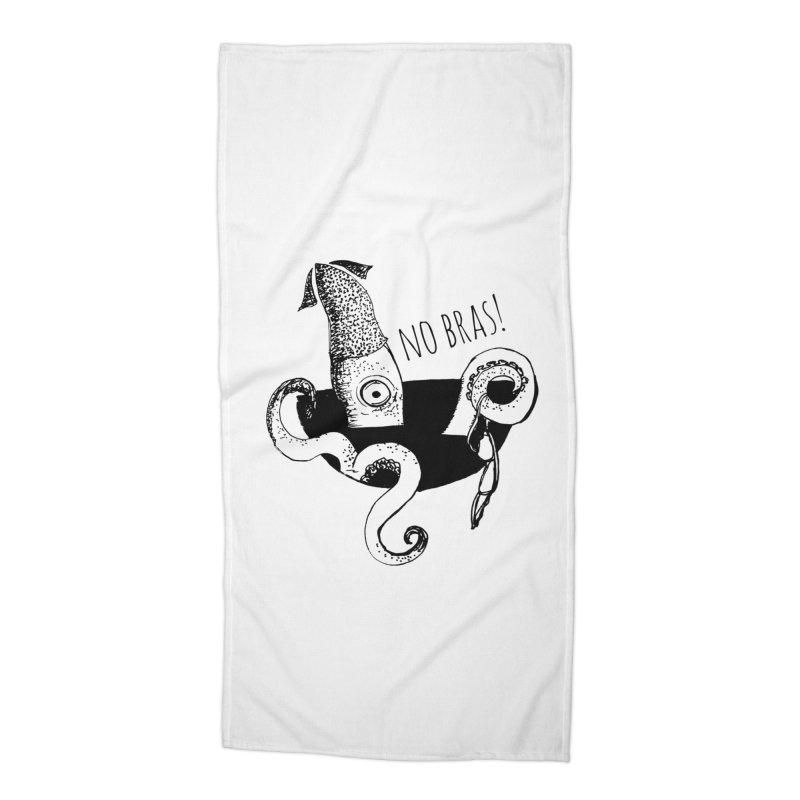No Bras Accessories Beach Towel by detroitcatvomit's Artist Shop