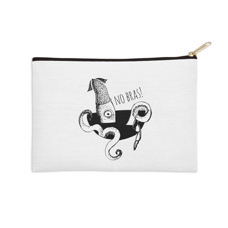 No Bras Accessories Zip Pouch by detroitcatvomit's Artist Shop