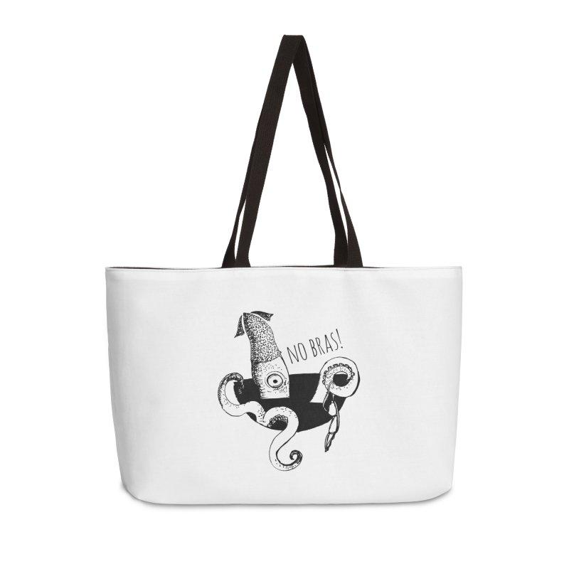 No Bras Accessories Weekender Bag Bag by detroitcatvomit's Artist Shop