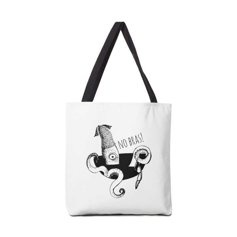 No Bras Accessories Tote Bag Bag by detroitcatvomit's Artist Shop