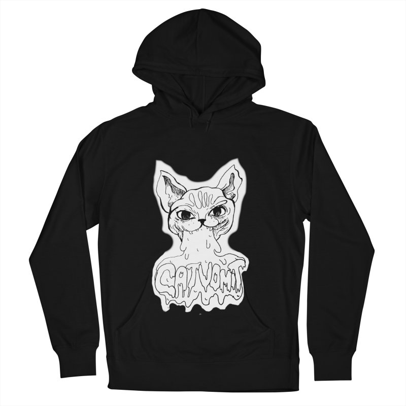CatVomit Men's French Terry Pullover Hoody by detroitcatvomit's Artist Shop