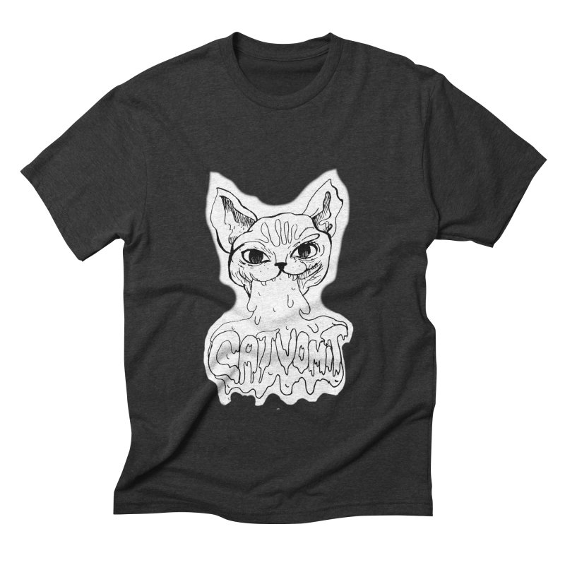 CatVomit Men's Triblend T-Shirt by detroitcatvomit's Artist Shop