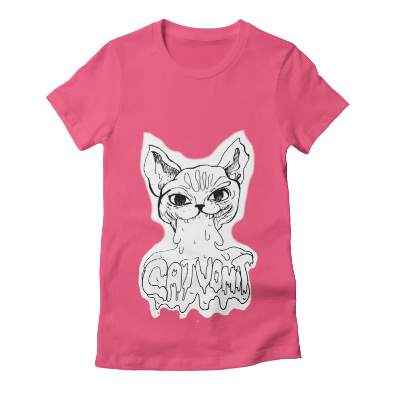 CatVomit Women's Fitted T-Shirt by detroitcatvomit's Artist Shop