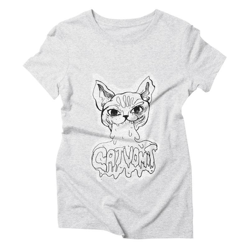 CatVomit Women's Triblend T-Shirt by detroitcatvomit's Artist Shop