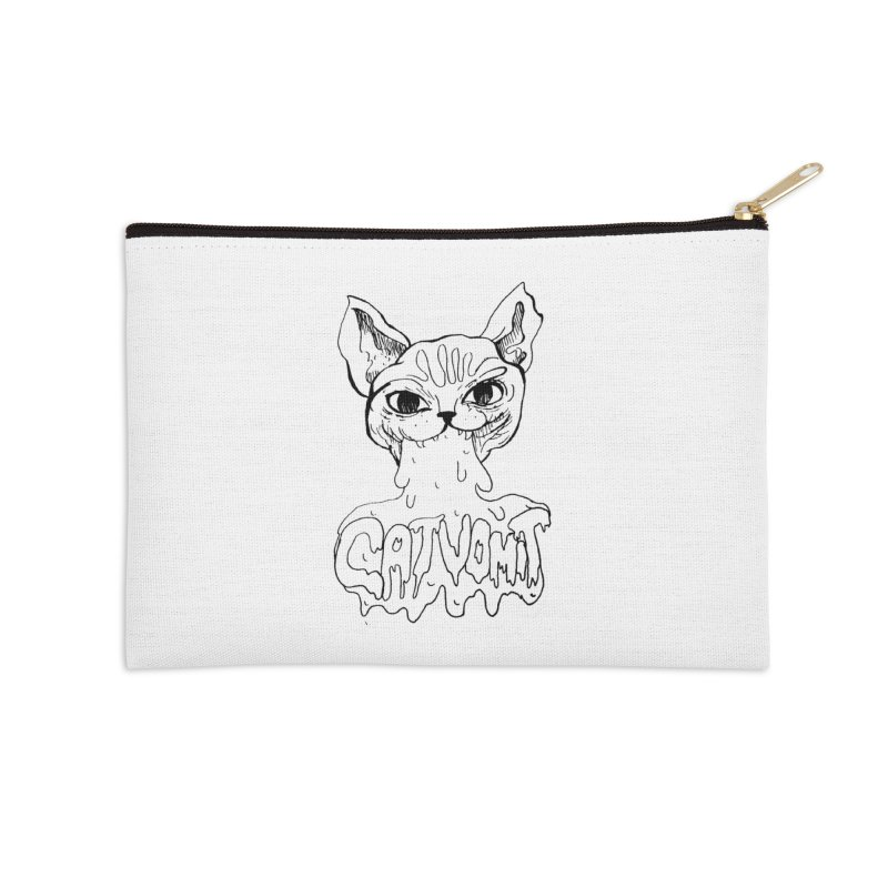CatVomit Accessories Zip Pouch by detroitcatvomit's Artist Shop