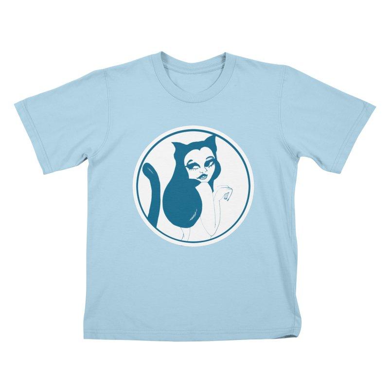 CatVomit Logo Kids T-Shirt by detroitcatvomit's Artist Shop