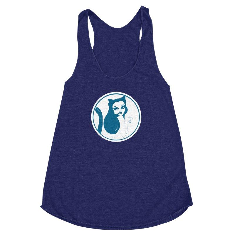 CatVomit Logo Women's Racerback Triblend Tank by detroitcatvomit's Artist Shop
