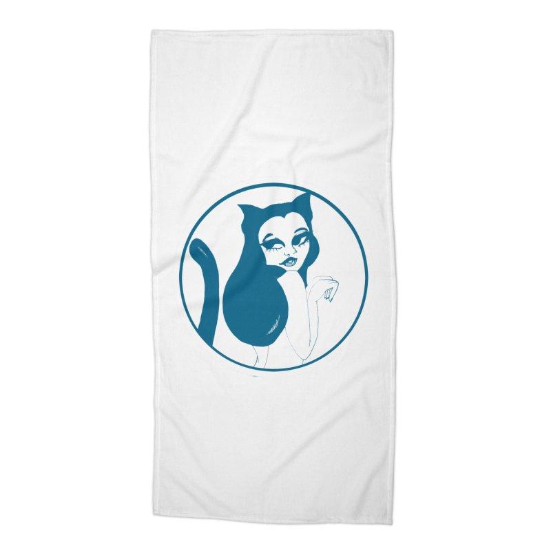 CatVomit Logo Accessories Beach Towel by detroitcatvomit's Artist Shop