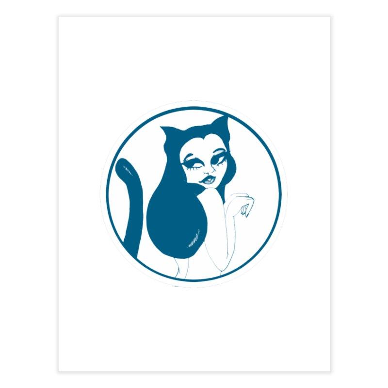 CatVomit Logo Home Fine Art Print by detroitcatvomit's Artist Shop