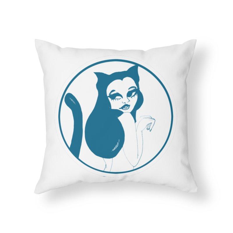 CatVomit Logo Home Throw Pillow by detroitcatvomit's Artist Shop