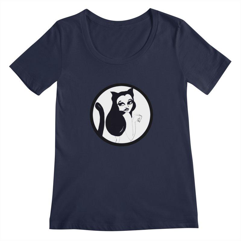Traditional Logo Women's Scoopneck by detroitcatvomit's Artist Shop