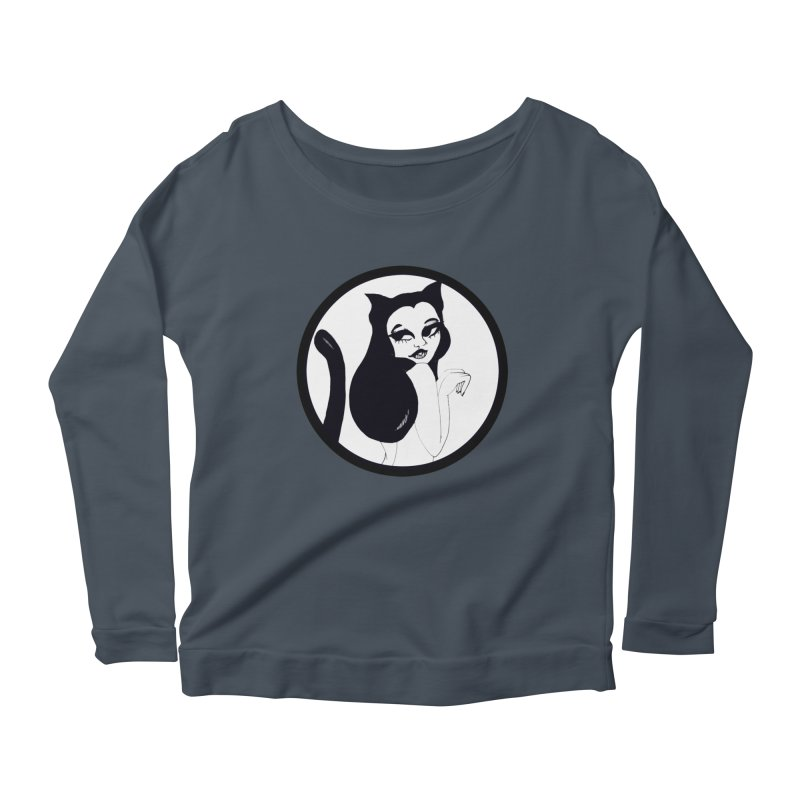 Traditional Logo Women's Scoop Neck Longsleeve T-Shirt by detroitcatvomit's Artist Shop