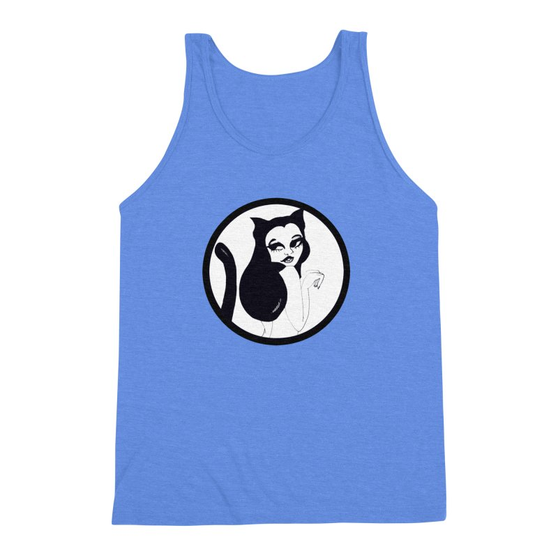 Traditional Logo Men's Triblend Tank by detroitcatvomit's Artist Shop