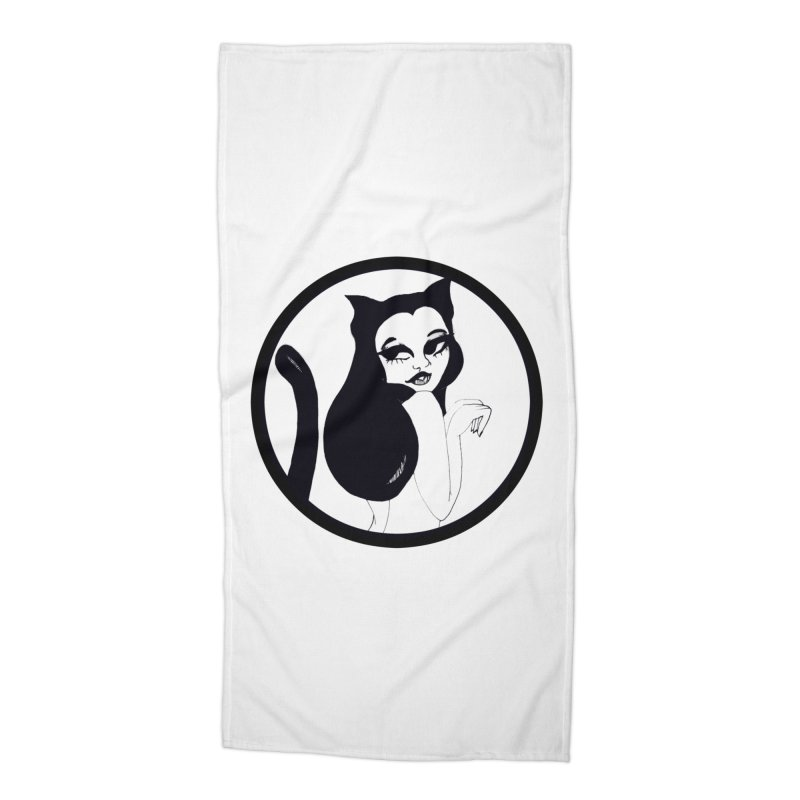 Traditional Logo Accessories Beach Towel by detroitcatvomit's Artist Shop