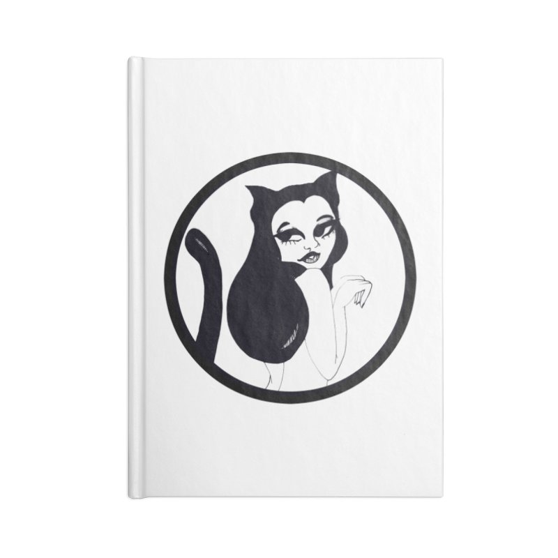 Traditional Logo Accessories Lined Journal Notebook by detroitcatvomit's Artist Shop