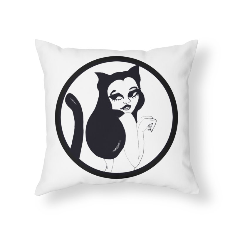 Traditional Logo Home Throw Pillow by detroitcatvomit's Artist Shop