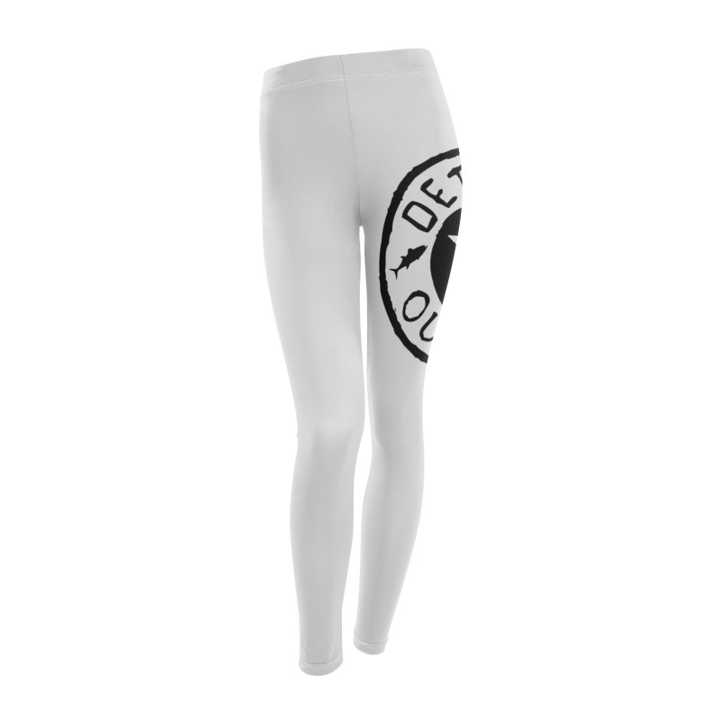 Black Outpost Logo Women's Leggings Bottoms by Outpost Apparel