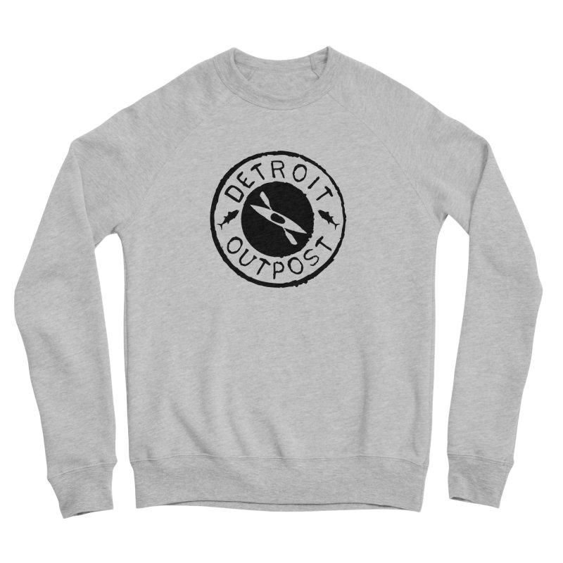 Black Outpost Logo Women's Sponge Fleece Sweatshirt by Outpost Apparel