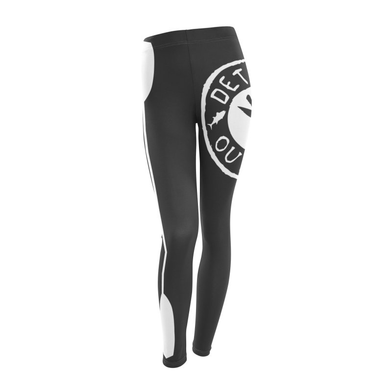 White Outpost Logo Women's Leggings Bottoms by Outpost Apparel