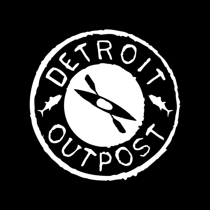White Outpost Logo Men's T-Shirt by Outpost Apparel