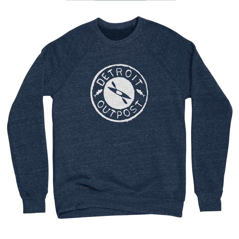 White Outpost Logo Women's Sponge Fleece Sweatshirt by Outpost Apparel