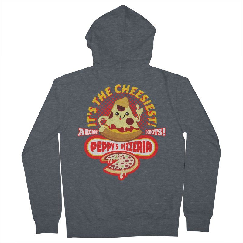 Peppy's Pizzeria Women's Zip-Up Hoody by devildino's Artist Shop